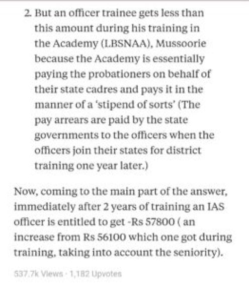 In Hand Salary of IAS Officers During Training and After Joining