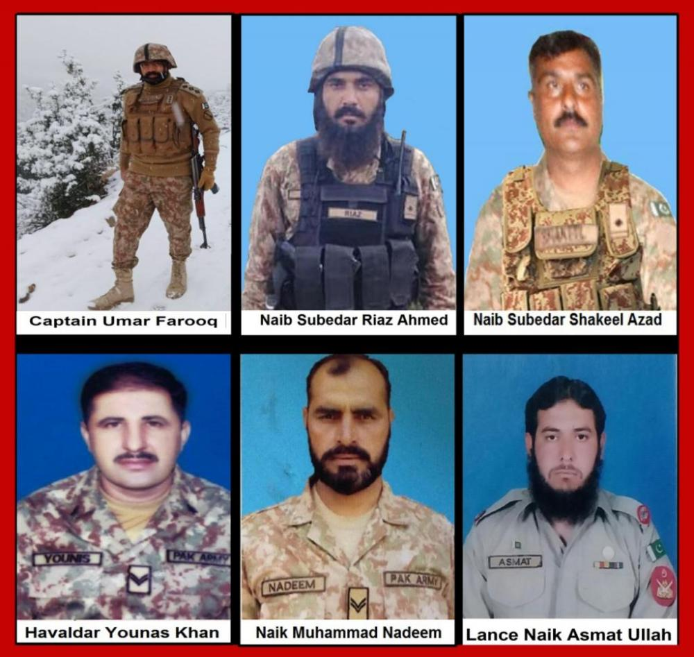 Pakistani Soldiers Martyred in North Waziristan