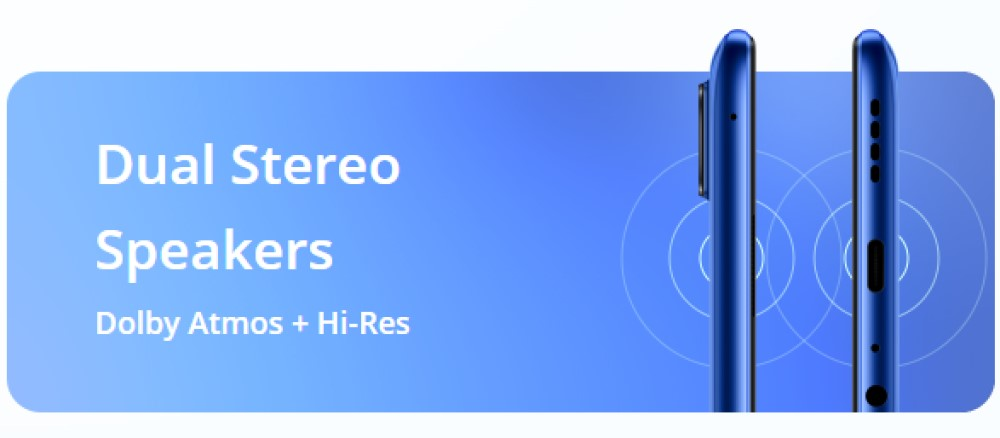 Realme 7 Pro Dual Stereo Speakers