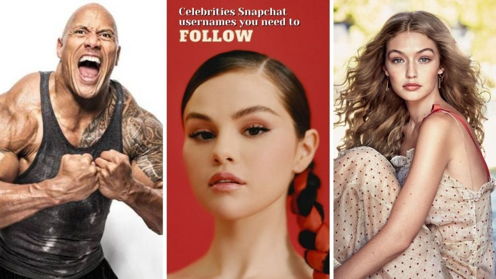 Celebrities Snapchat usernames you need to follow