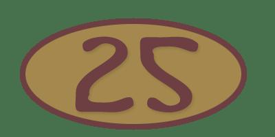 25 be