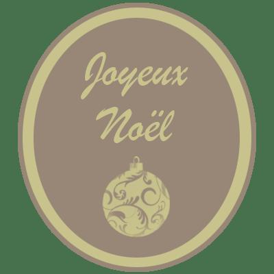 Joyeux Noel beige-dore