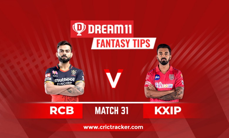 RCB vs KXIP Dream11 Fantasy Cricket Tips: Pitch Report, Playing XI & Injury Update