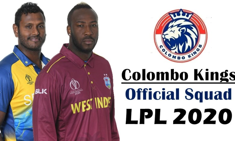 LPL 2020: Full list of Colombo Kings Players, Squad details