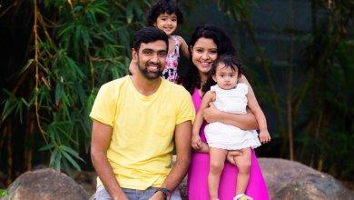 Photo of Indian Cricketer Ravichandran Ashwin and His Family