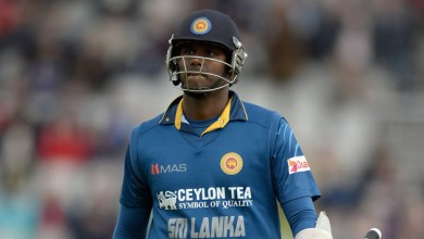 Photo of Angelo Mathews returns home from the Windies tour