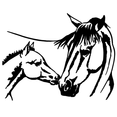 Horses Coloring Page Horse and Foal Coloring Page