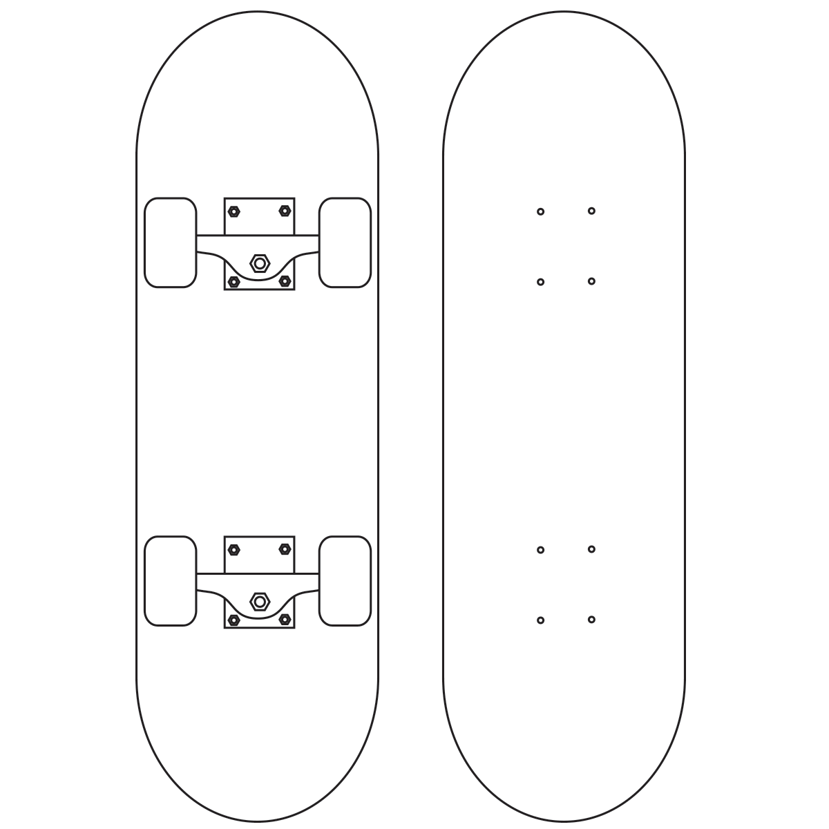 Design Your Own Skateboard Coloring Page
