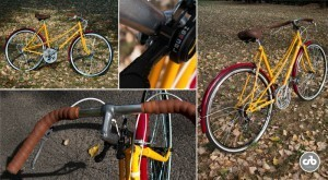 Őszi falevél bicikli / Csajbringa
