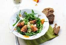 Sült füge salatáként