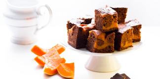 Márványos sütőtökös brownie
