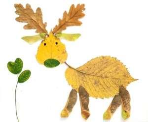 Állat őszi falevélből