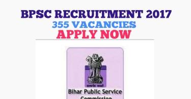 BPSC Pre 63- 2017 Recruitment