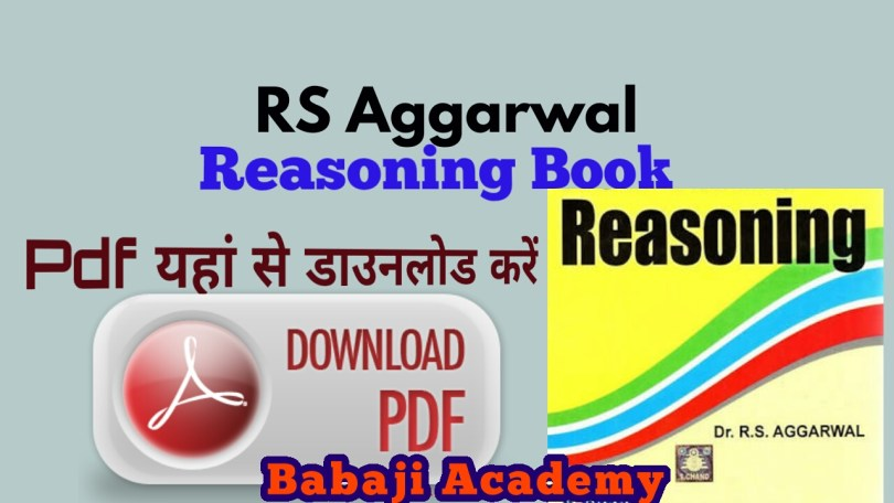 RS Aggarwal Reasoning Book PDF Free For Competitive Examinations