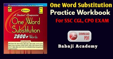 One Word Substitution Pdf in Hindi: One word substitution pdf download