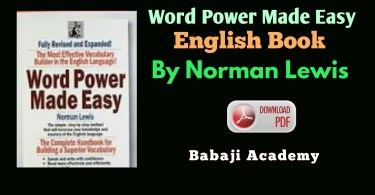 Word Power Made Easy by Norman Lewis: Free Pdf download