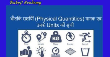 Physical Quantities