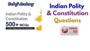 Indian Polity and Questions Pdf