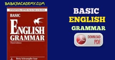 Basic of English grammar Pdf: Learn Basic English 2019