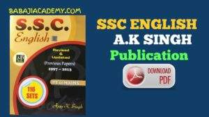 SSC English A.K Singh