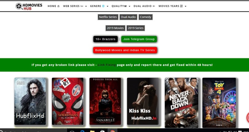 Hubflix - Movieshub 2019 Telugu, Hollywood Latest Movies Download