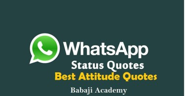 Whatsapp Status Download: Best Attitude Status For Whatsapp, Attitude Quote in English