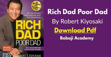 Robert Kiyosaki: Rich Daddy Poor Daddy Pdf: Rich Dad Poor dad Pdf