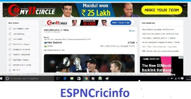 EspnCricinfo: Live Cricket Scores, Match Schedules, News, Cricket Videos