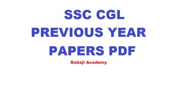 SSC CGL Previous Year Question Papers Pdf Download [2016, 2017, 2018 & 2019]