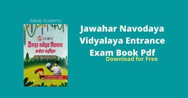 Jawahar Navodaya Vidyalaya Entrance Books PDF Free Download