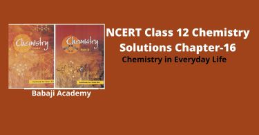NCERT Class 12 Chemistry Chapter 16 Chemistry in Everyday Life Solutions and Notes Pdf Download