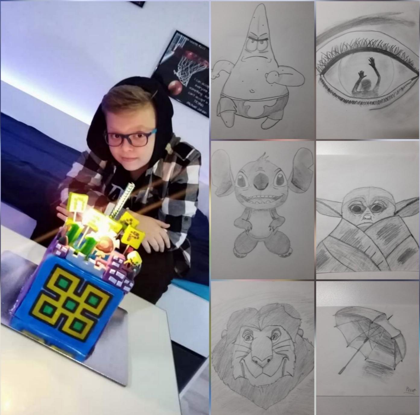 11 годишниот Петар Спасов од Битола со неверојатен цртачки талент