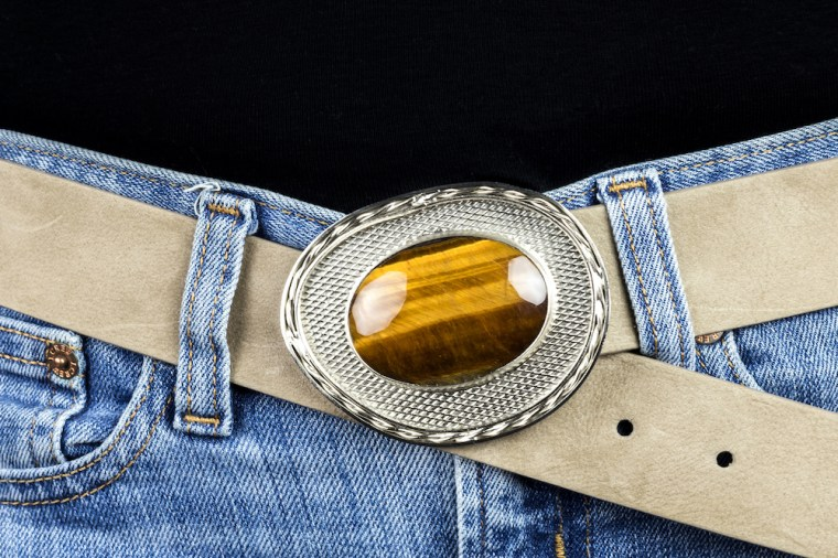 VIOLET TIGER EYE SILVER BELT 3