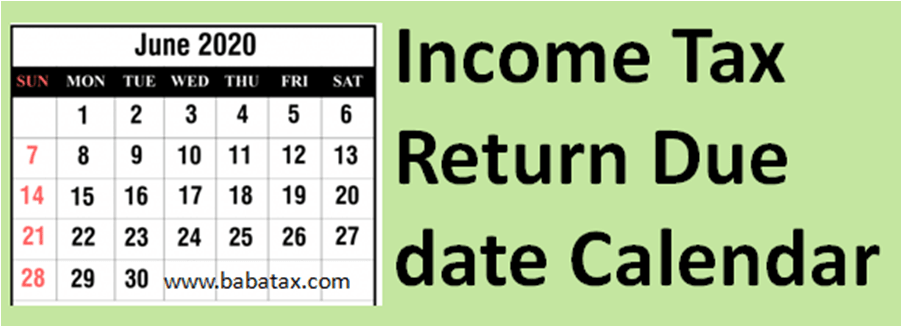 Income Tax Return Due date
