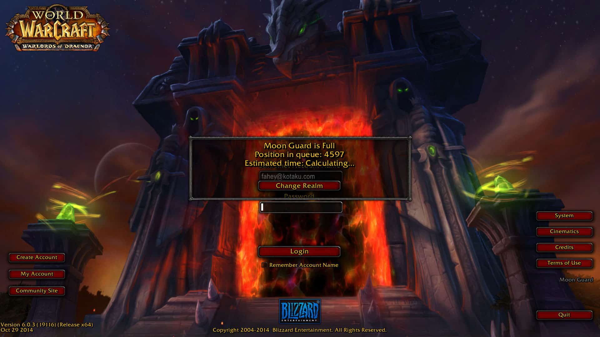 World of Warcraft Down second time within a Day | News of