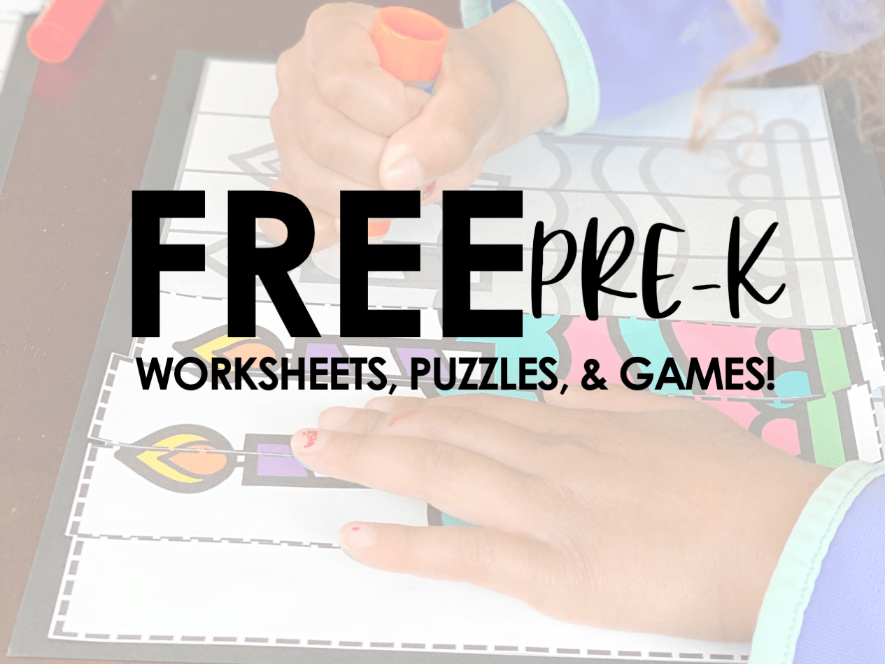 Free Pre K Worksheets Puzzles And Games