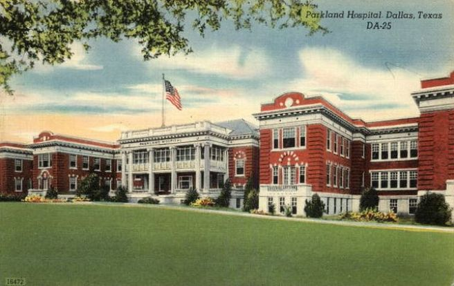 Parkland Hospital Postcard