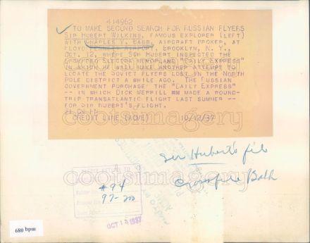 Charles V. Babb 1937 Photo-Reverse