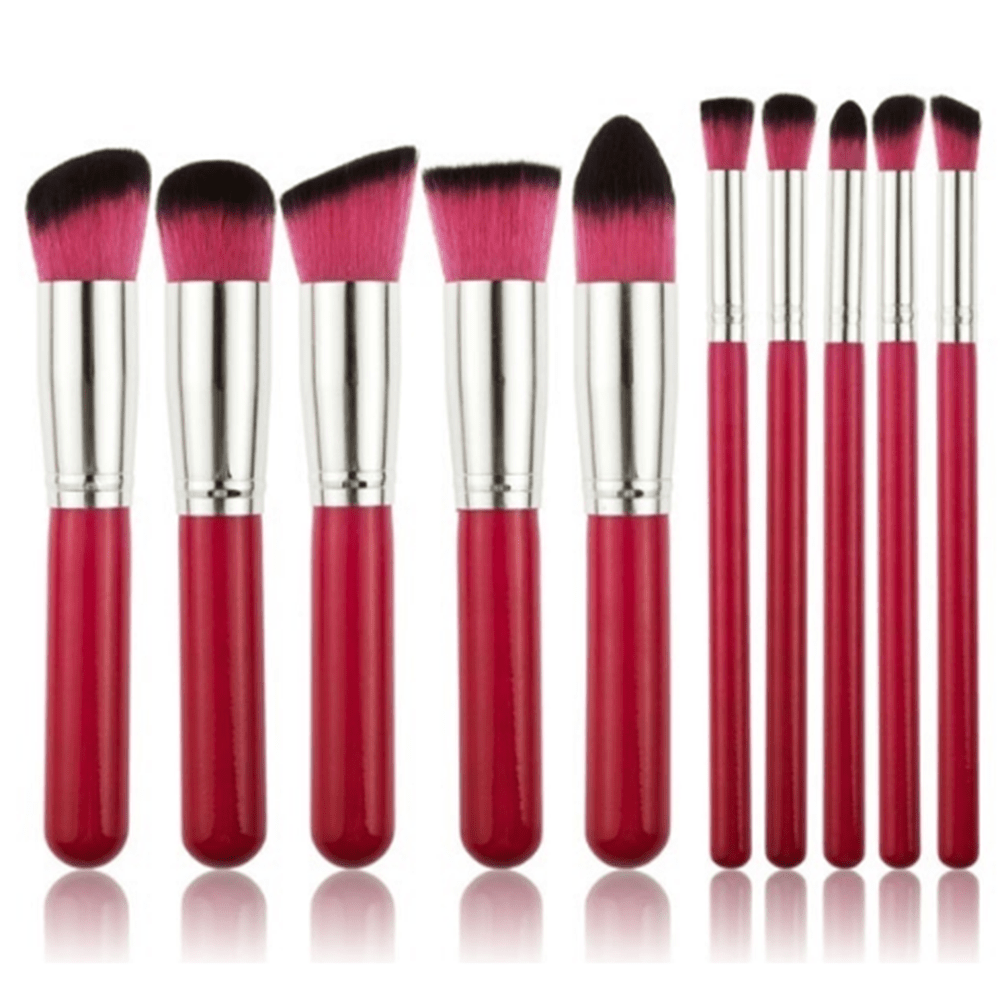 10 Professional Make Up Brushes pink