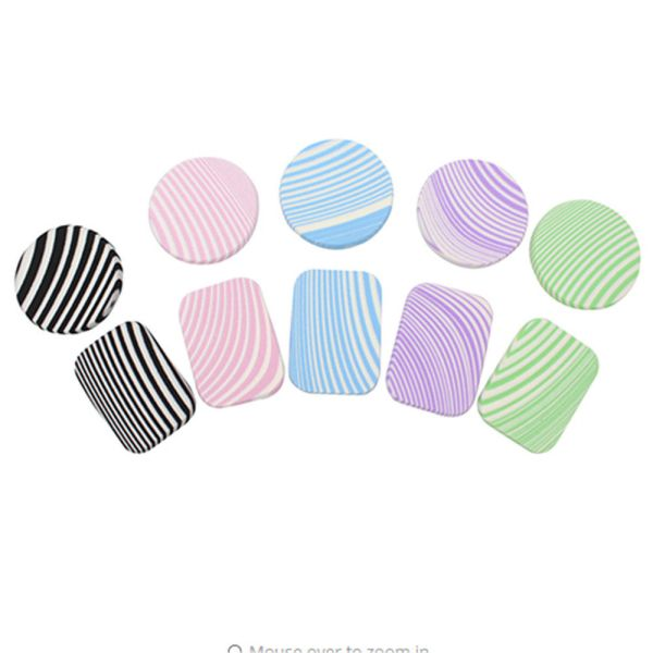 zebra striped makeup sponge all layout