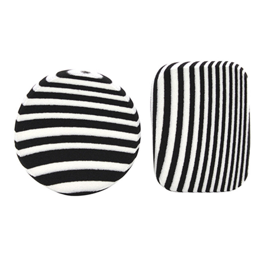zebra striped makeup sponge black