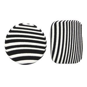 zebra striped makeup sponge black
