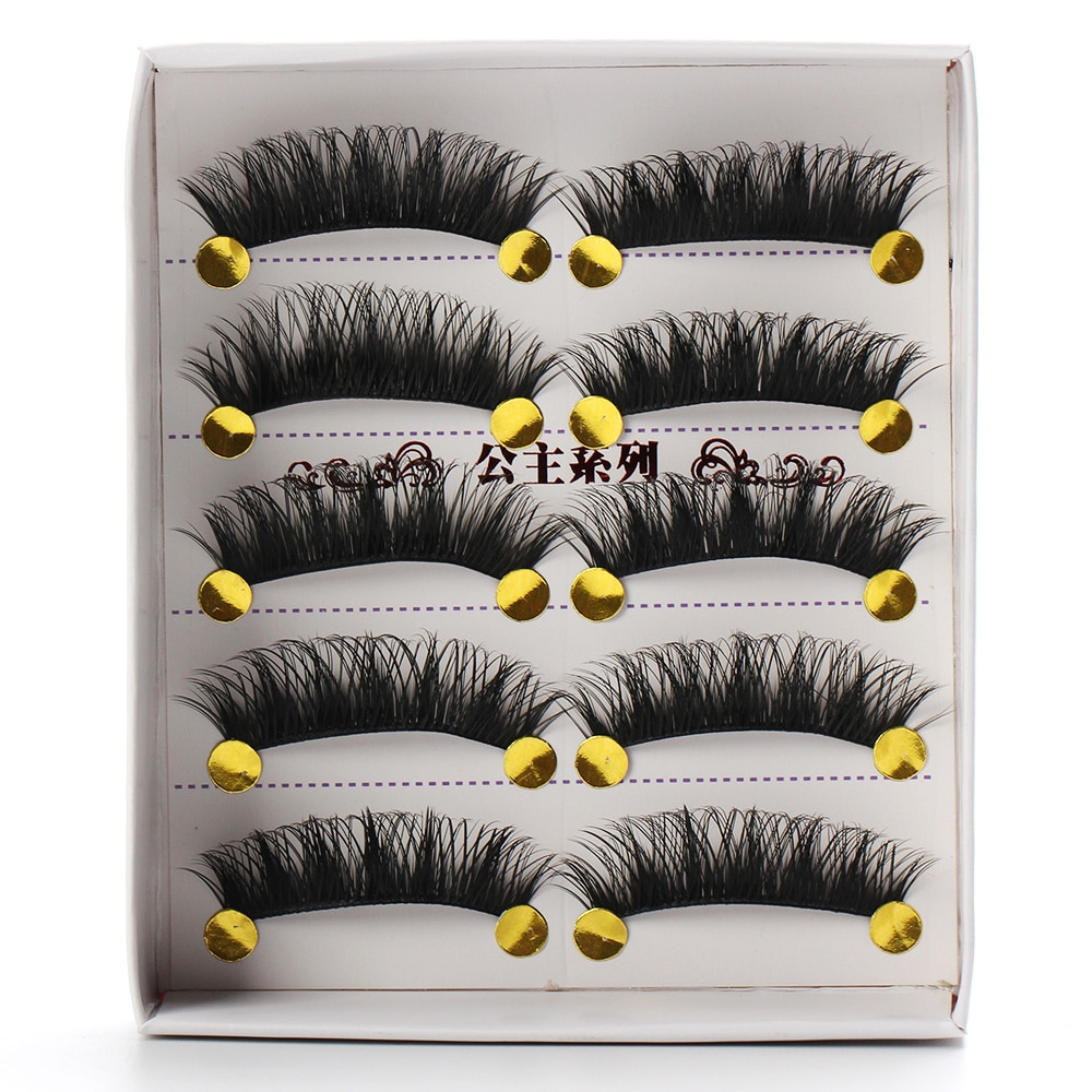 5 Pair Natural Long Black Eye Lashes Handmade Thick Fake False Eyelashes HOT 1