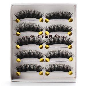 5 Pair Natural Long Black Eye Lashes Handmade Thick Fake False Eyelashes HOT 1