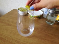 Rub the lime around the rim