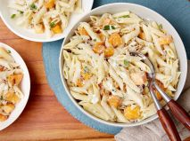 Penne with Butternut Squash and Goat Cheese