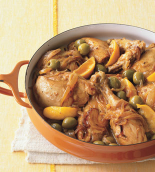 Moroccan Chicken w/ Green Olives & Lemon