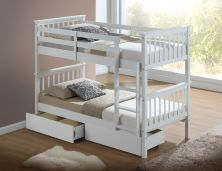 bunk bed white with kids bunk beds