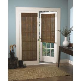 this chic single shade is constructed of real eco pertaining to blinds for french door