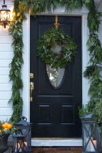 home for the holidays 4 ideas for simple front door within Front Door Decorations